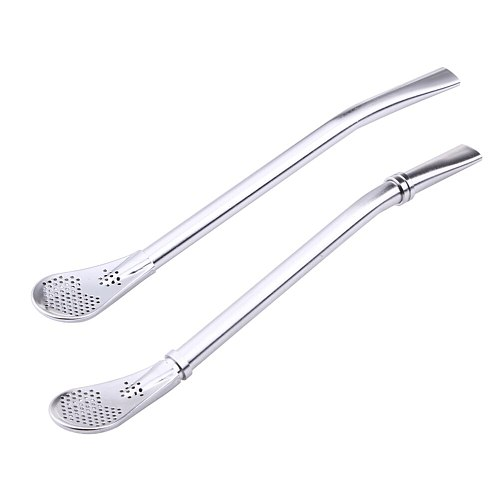 Stainless steel filter straw spoon tea scoops Washable Tea Tools Two styles