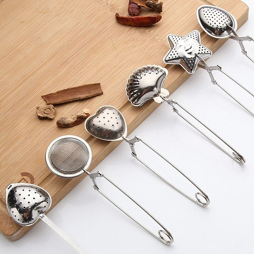 Kitchen Accessories Stainless Steel Tea Infuser Sphere Mesh Tea Strainer Coffee Herb Spice Filter Diffuser Handle Tea Ball