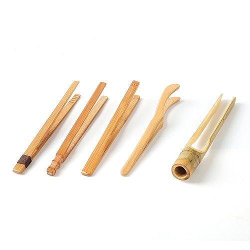 Handmade Natrual Bamboo Tweezers Anti-scalding Tea Holder Kung Fu Tea Set Bacon Sugar Ice Tea Utensil Teaware Kitchen Tools,1PC