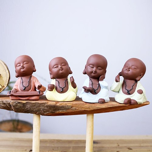 Tea pet ornaments can improve creative boutiques Little purple tea monk play treasure mini ornaments jewelry home decorations