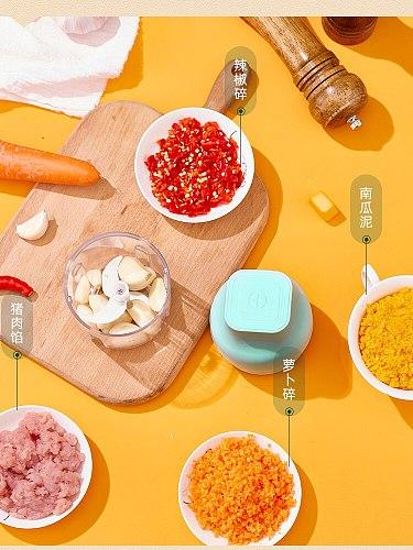 Mini Portable Electric Meat Grinder Nut Garlic Vegetable Stuffers Sausage Chopper USB Rechargeable Vleesmolen Kitchen BY50JR