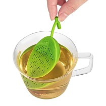 Newest Design LEAVE Filter Diffuser Cute Silicone Loose Herbal Spice Infuser Tea Leaf Strainer Teaware Home Accessories