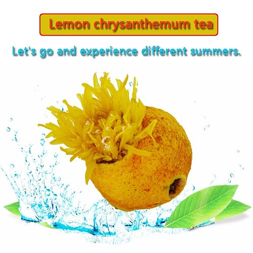 Lemon Chrysanthemum Tea Bag Fruit Tea Black Tea Flower Tea 250 g Baggage