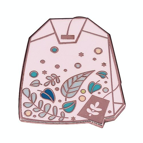 Tea Time Tea Bag Tea Lovers Brooch Pins Enamel Metal Badges Lapel Pin Brooches Jackets Jeans Fashion Jewelry Accessories