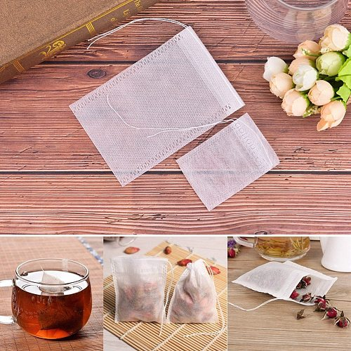 Teabags 5.5 x 7CM Food Grade Empty Scented Tea Bags Infuser With String Heal Seal Filter Paper For Herb Loose Tea