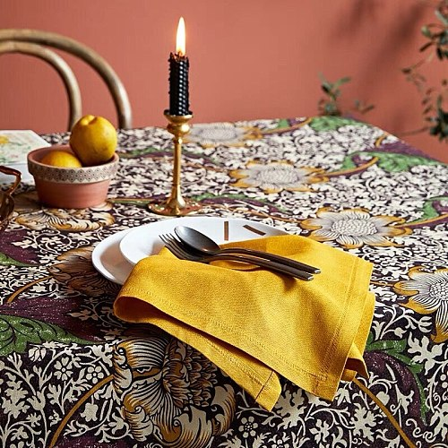 Yellow green blue red tea towels linen cloth napkin 1pc christmas napkins 45x45cm
