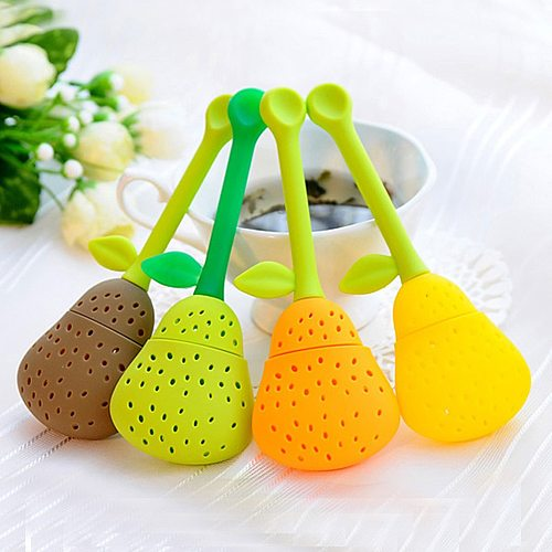 1PC Pear Shape Silicone Tea Infuser Tea Leaf Strainer Spice Herbal Infuser Filter Tool Tea Strainers Teapot Teacup Accessories