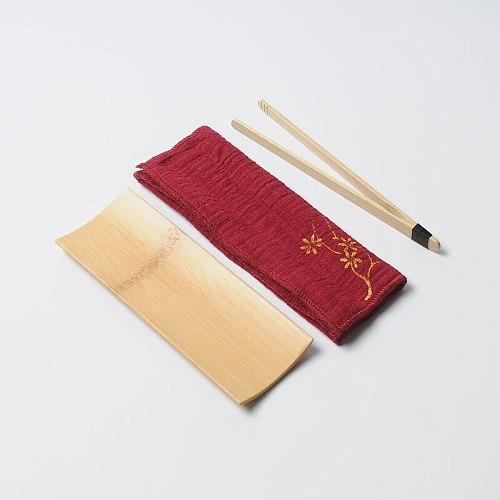 Superfine fiber tea towels+Tongs/clamp+Spoon,absorbent strong kung fu tea towels high-grade tea cloth napkins tea tools