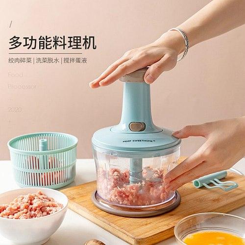 Press Vegetable Manual Meat Grinder Stuffer Multi Function High Capacity Meat Grinder Mincer Moedor De Carne Home Garden DG50MG
