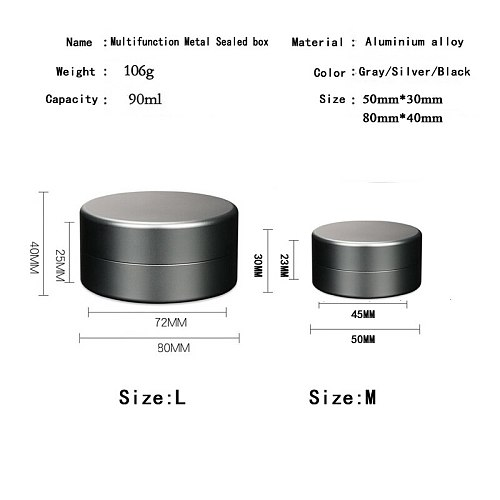 Sealed pocket Metal Storage Box Case Tin Candy Food Small Jars Tea Cans Outdoor Waterproof Case