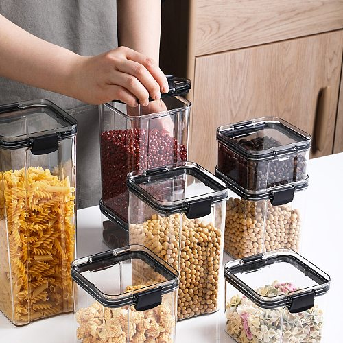 Kitchen Sealed Plastic Food Storage Box Multigrain Storage Container Dried Fruit Tea Storage Tanks
