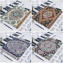 1Pcs Mandala Retro Geometric Stripe Table Napkins Printed Cloth Dinner Napkin 42*32cm Boho Tea Towels for Decor Dining Servetten