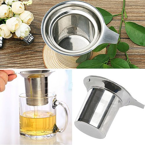 Mesh Tea Infuser Reusable Tea Strainer Stainless Steel Teapot Loose Tea Leaf Spice Filter Items For Household Office