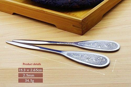 500 pcs Puer Tea Knife Tea Needles Tea Cutter Stainless Steel Metal Chinese Style Kung Fu Tea Set Accessory Wholesale