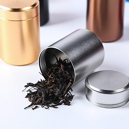 70ml Aluminum Herb Stash Jar Airtight Smell Proof Container Quality Tea Cans Herbs Spices Stash Jar Tea Caddies Storage Canister