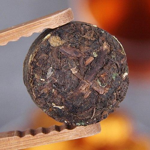 2019 Glutinous Rice Aroma Shu Pu-erh Mini Tuocha Ripe Pu-erh Tea 500g White Bag
