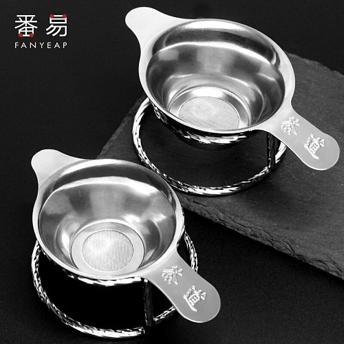 Kitchen Accessories new Tea Strainer Amazing Stainless Steel  Design Touch Feel Holder Tool Tea Spoon Filter
