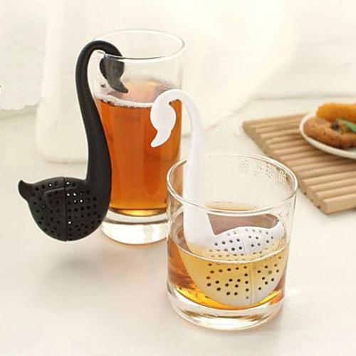 1PC Tea Strainer Swan Shape Tea Strainer Creative Swan Tea Infuser Portable Plastic Elegant Swan Tea Infuser Kitchen Tools