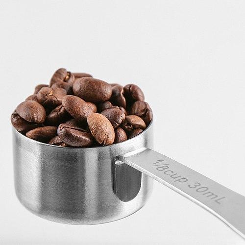Coffee Scoop 30ml Stainless Steel Coffee Spoon Long Metal Sugar Powder Tea Scoop Kitchen Measuring Spoon Coffee Accessories