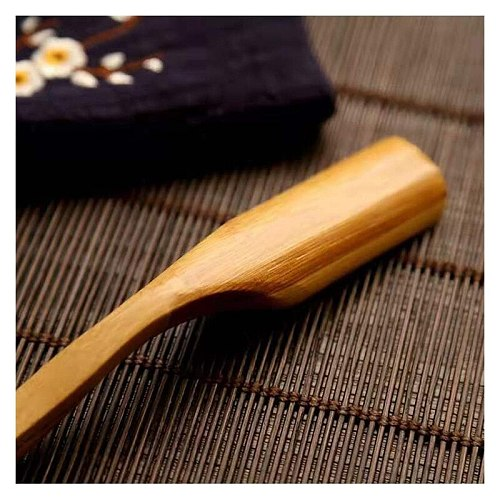 20Pcs/Lot Bamboo Wooden Tea Scoop with Long Handle Leaves Powder Teaspoon Accessories