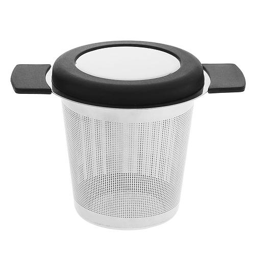 Tea Strainer Leak With Cover Filter Stainless Steel Teapot Leak Filter Fine Mesh Coffee Infuser Reusable Tea Infuser Teaware