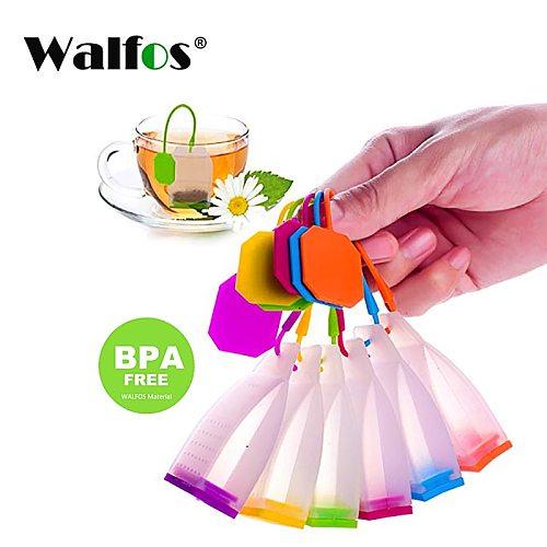 WALFOS Food grade Silicone Tea Bags Tea Strainers Herbal Tea Infusers Filters Scented Tea Tools