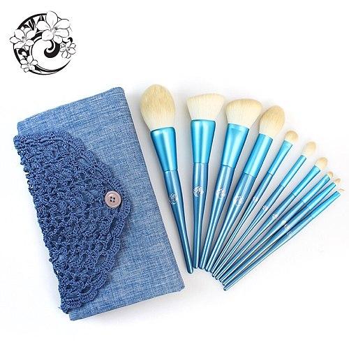 ENERGY Brand 10pcs Professional Makeup Brushes Set Make Up Brush + Bag Synthetic Hair Wood Handle Pincel Maquiagem dn0