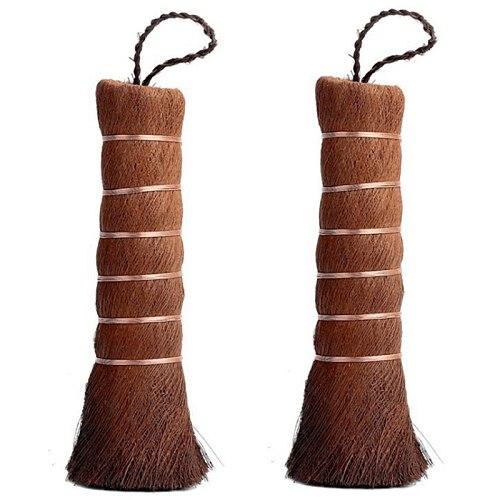 WSFS Hot Household Environmentally Matcha Broom Matcha Countertop Tea Brush Mini Cleaning Broom Tea Brush, 2PCS