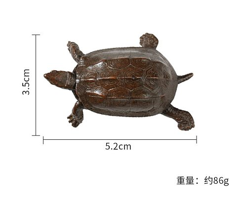 Retro copper tea pet turtle tea ceremony home decoration ornament kung fu tea accessories 1pc