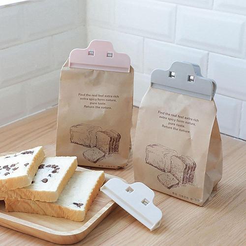 Food Storage Bag Sealing Clip Plastic Snack Bags Sealer Clamp For Tea Coffee Milk Powder Bread Kitchen Accessory Portable