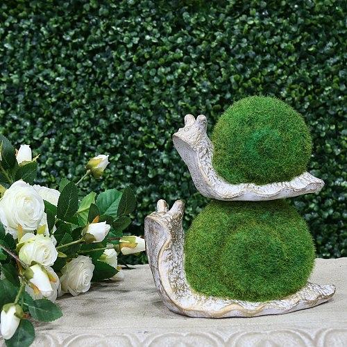 Resin Flocking Small Snail Ornaments Bonsai Micro Landscape Home Decoration Accessories For Living Room Tea Pets Desk Decoration