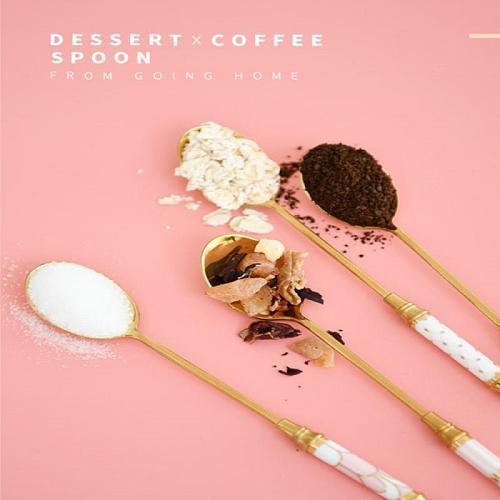 304 Stainless Steel Spoon Tea Dinnerware Set Spoon Dessert Coffee Ice Cream Spoons Kitchen Accessories Bar tools New Long Handle