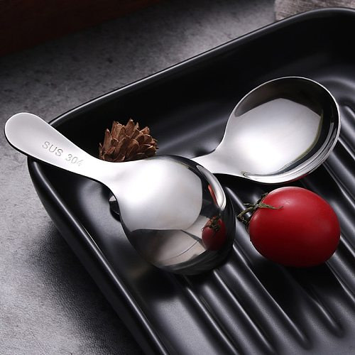 2Pcs Coffee Scoop Stainless Steel Kitchen Spoon Ground Coffee Spoon Spice Condiment Spoon Cute Herb Tea Scoop Coffee Accessories