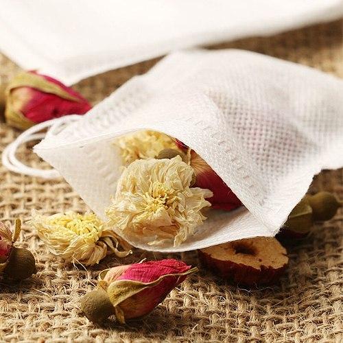Cook Herb Spice Tools Disposable 7x9cm/8x10cm/10x15cm Tea Filter Bags Multifunction 100Pcs Drawstring Pouchs Medcine Bag
