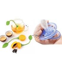 Silicone Tea Infuser Herbal Tea Bag Coffee Filter Diffuser Strainer Creative Reusable Portable Lemon Shaped Tea Accessories
