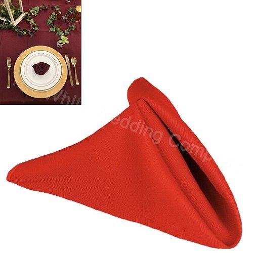 30cm x 30cm Square Red Linen Napkins Cotton Polyester 100pcs Mexican Decoration for Restaurant Accessories and Decor HAORUI