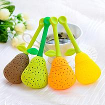 Tea Infuser Silicone Pear Shape Tea Leaf Strainer Spice Herbal Infuser Filter Sphere Mesh  1pc Tool Teapot Teacup Accessories