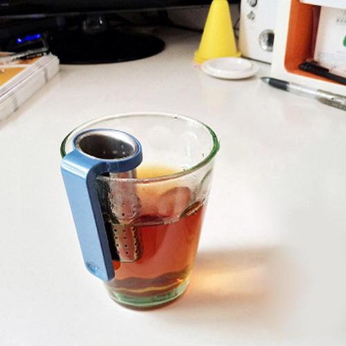 Portable Stainless Loose Steel Tea Leaves Infuser with Handle Drinkware Filter   Tea Leaves Infuser