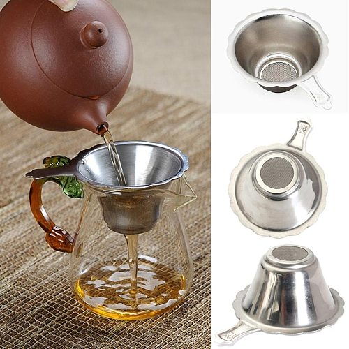 Silver Tea Mesh Infuser Stainless Steel Tea Strainer Suitable for teapots Tea Leaf Filter Kitchen Accessories 4x7 cm