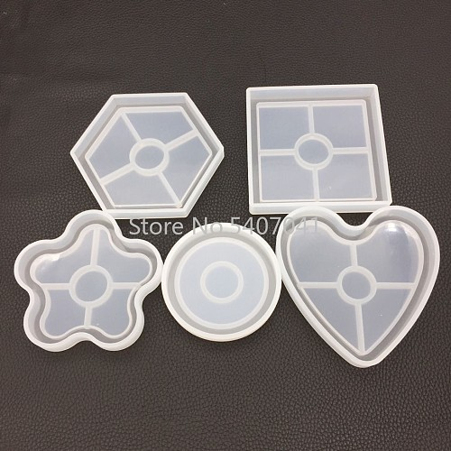 1PCFlower Pot Base Tea Coaster DIY Silicone Mold Dried Flower Jewelry Accessories Tools Equipments Resin Molds