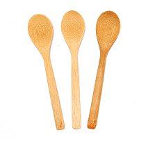 1P Wooden Spoon Ecofriendly Tableware Bamboo Scoop Mini Dessert Scoop Coffee Honey Tea Spoon Kitchen Accessories