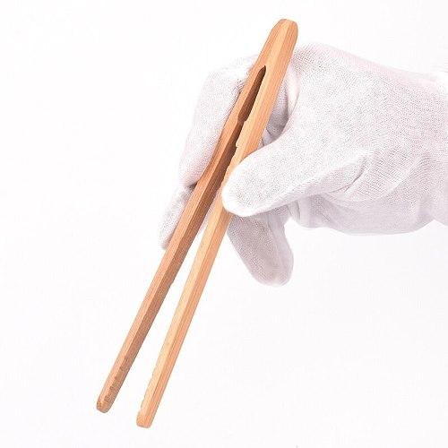 18cm Wooden Tea Clip  Tweezer Bacon Tea Clip Tongs Bamboo Kitchen Salad Food Toast