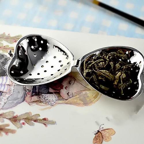 Stainless Steel Heart Shape Tea Herb Spice Infuser Spoon Strainer Filter Scoop