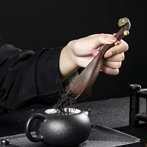 Wooden Coffee Tea Spoon Pipa Shape Tea Scoop Chinese Kongfu Tea Shovel Kitchen Ceremony Teaware Accessories