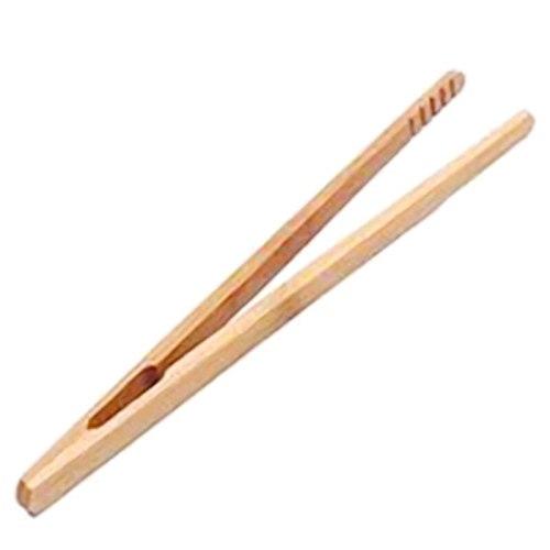 18cm Wooden Tea Tweezer Bacon Tea Clip Tongs Bamboo Kitchen Salad Food Toast