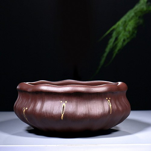Tea service of tea accessories yixing purple clay by hand water wash wash wash bowl lotus bark tea vessels