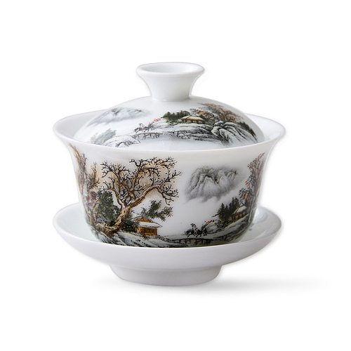 11.11  gaiwan 80cc porcelain tureen Chinese ceramic tea bowl set covered bowl with lid cup saucer China cup bowls on sales new