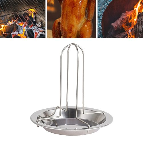 Portable Barbecue Grilling Baking Cooking Pans Non-Stick Chicken Roaster Rack With Bowl BBQ Accessories Tools dropshipping