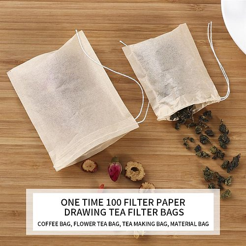 Wholesale Teabags Empty Scented Tea Bags With Strings Seal Filter Reusable Tea Bag For Herb Spice Loose Coffee Pouches Tools