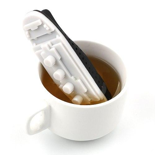 Titanic Shape Tea Infuser Teaware Herbal Filter Diffuser Creative Ship Style Empty Silicone Tea Bags Tea Strainer